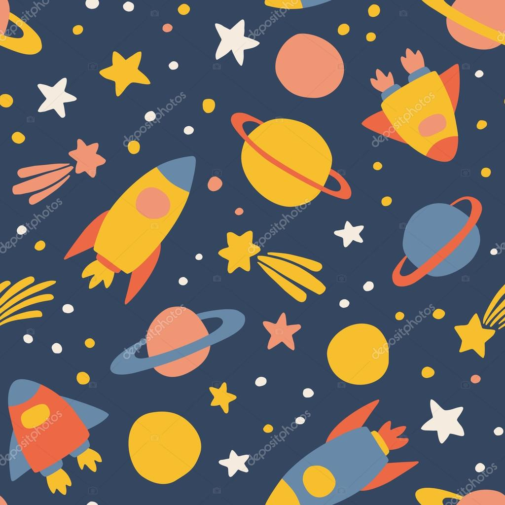 Outer space pattern stock vector mkucova 124259490 for Outer space pattern