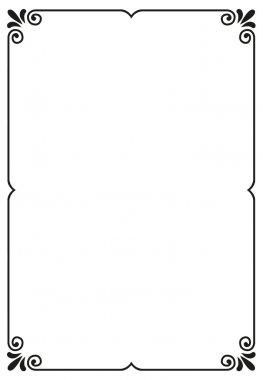 "Картина, постер, плакат, фотообои ""простая векторная рамка"", артикул 62061749"