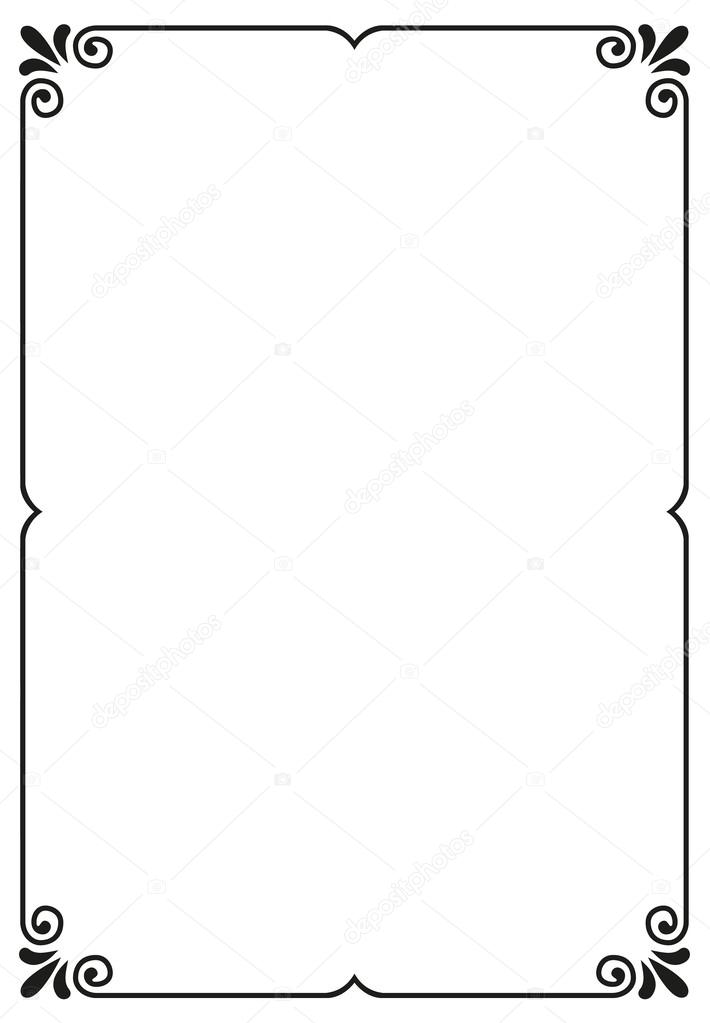 Simple vector frame — Stock Vector © MKucova #62061749