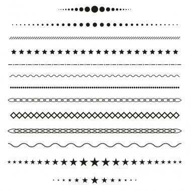 Collection of vector dividers stock vector