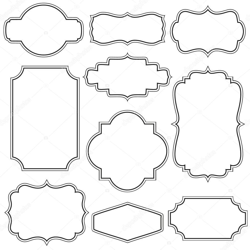 vintage frame design png. Vintage Frames \u2014 Stock Vector Frame Design Png