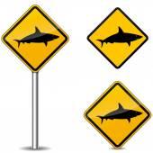vektor znamení žralok