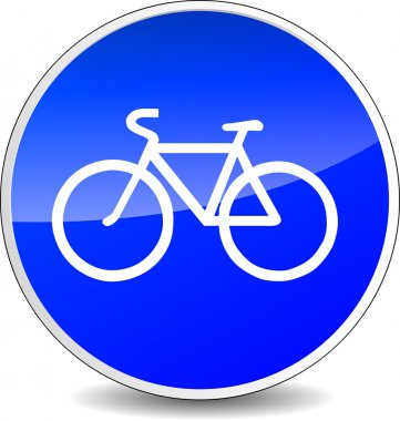 bicycle blue sign