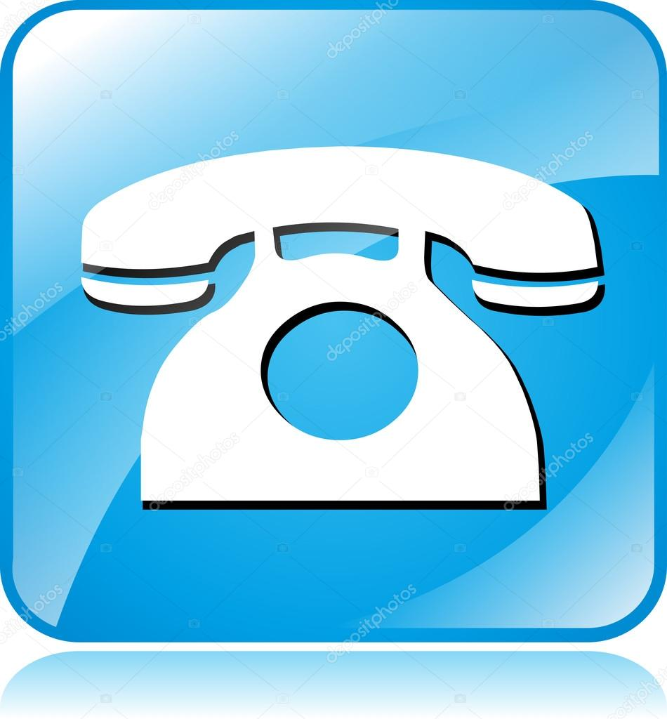 blue phone icon stock vector nickylarson 59195597