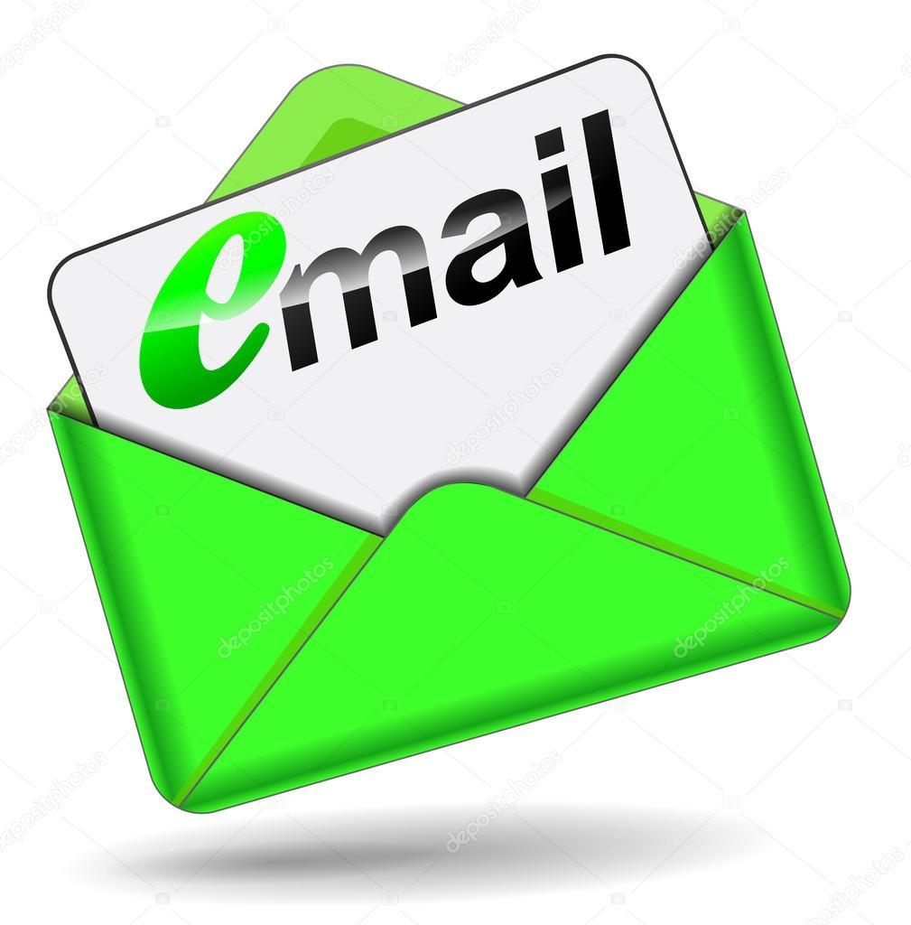 email green envelope stock vector nickylarson 60131391