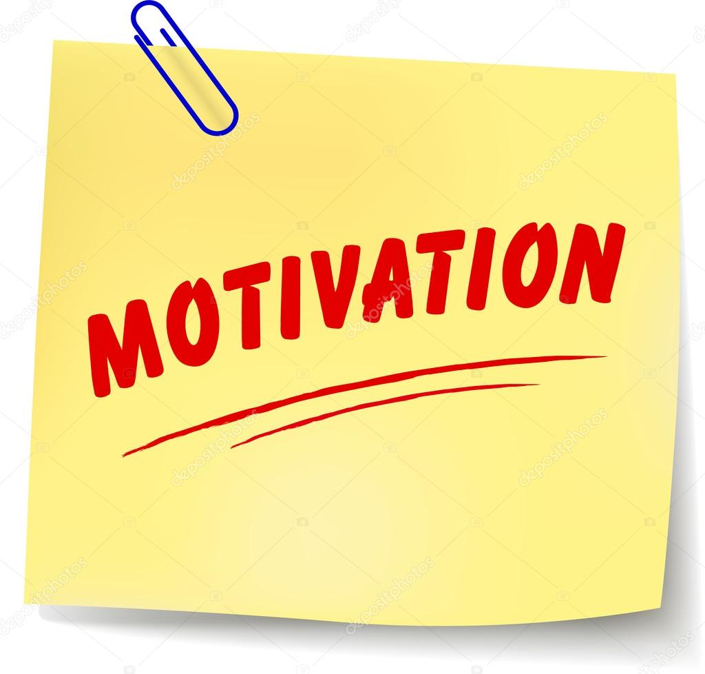 Note de motivation — Image vectorielle