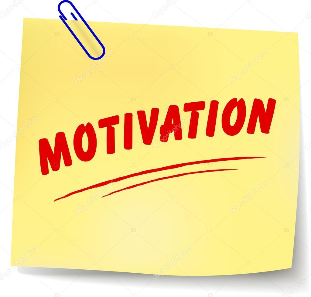 Note de motivation — Image vectorielle