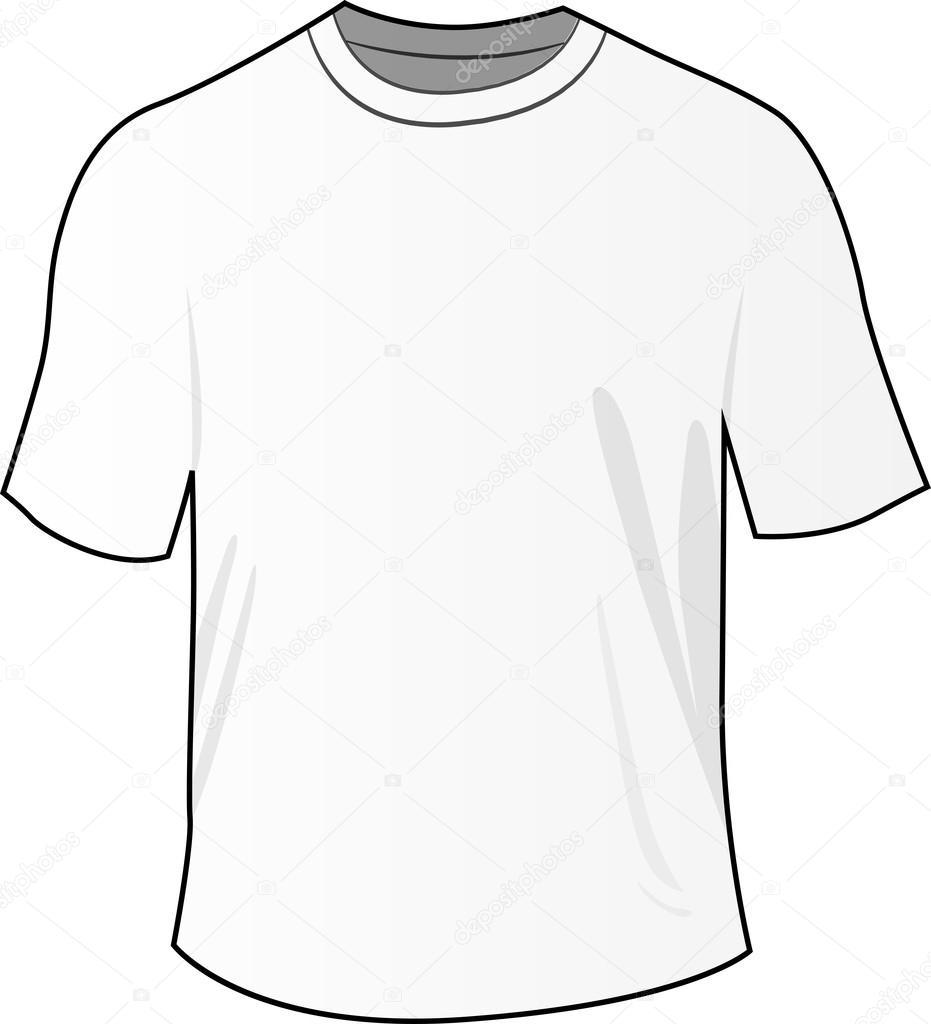 Scribble Drawing T Shirt : Maglietta bianca anteriore — vettoriali stock