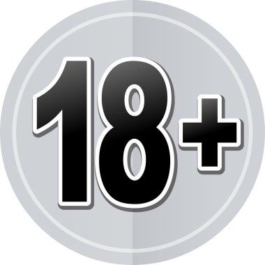 eighteen sticker icon