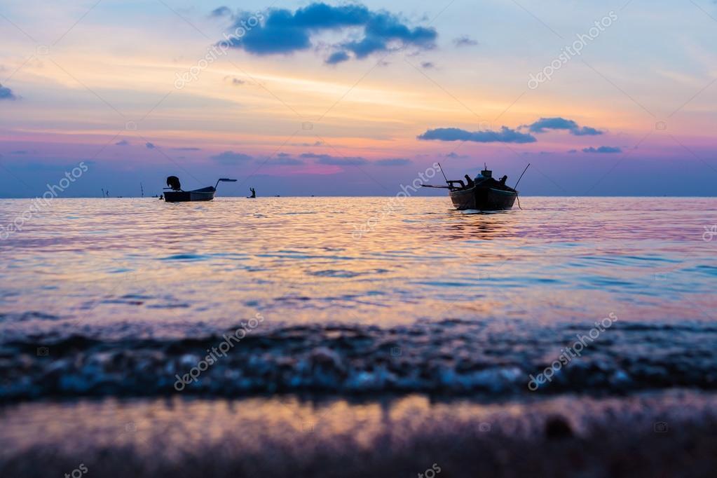 Vanilla romantic seascape at sunset