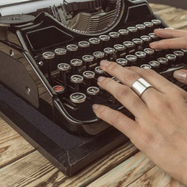 woman writer working
