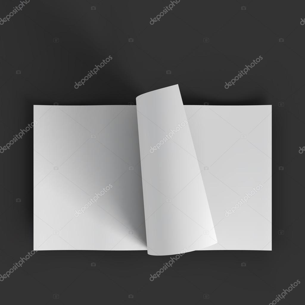 white blank magazine spread business mockup template stock