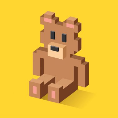 Teddy bear pixel