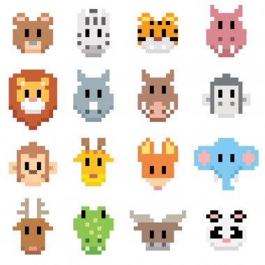 Animal cartoon pixel