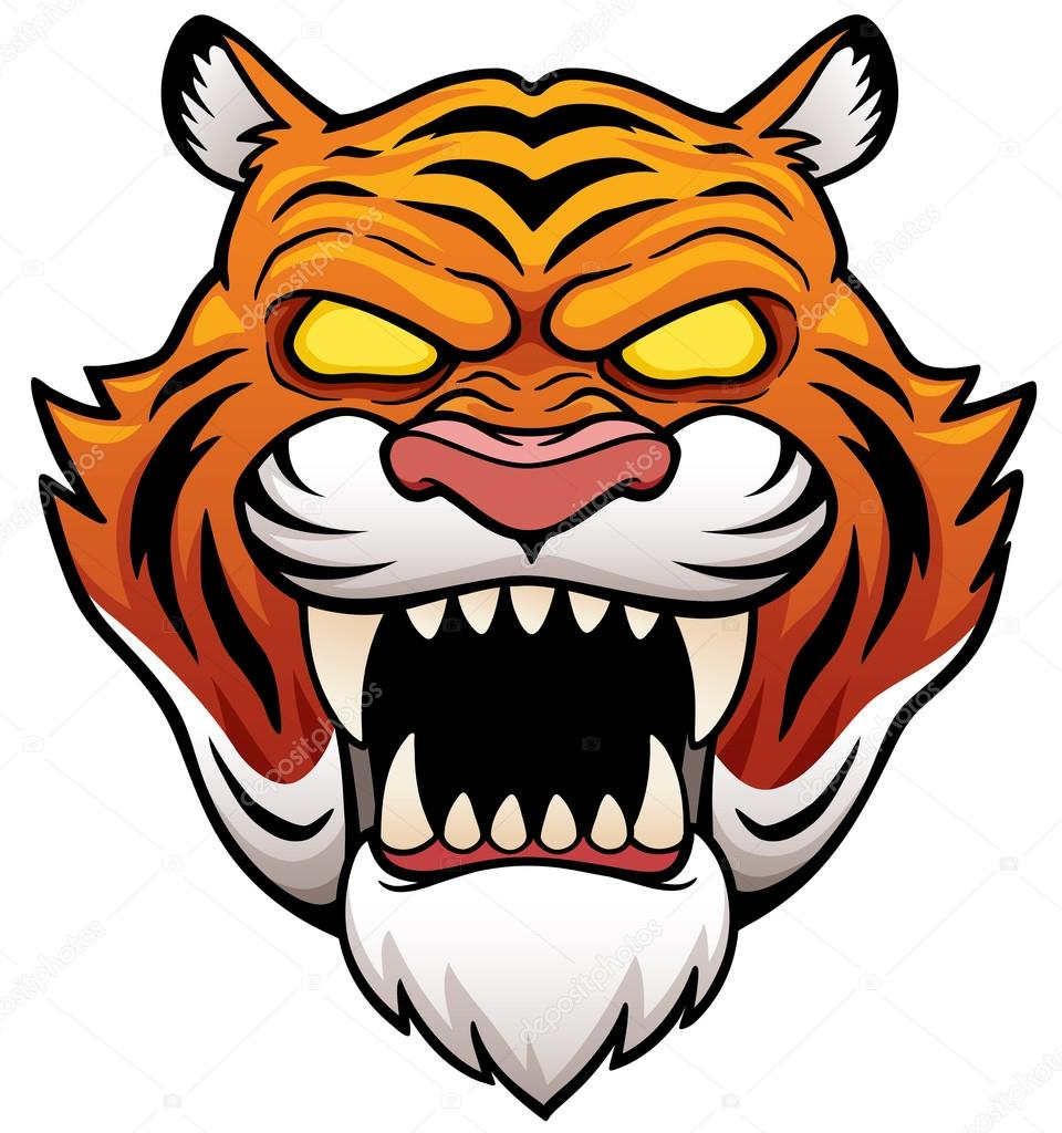 tiger face cartoon stock vector sararoom 113276984 rh depositphotos com cartoon tiger face stencil cartoon tiger face roaring