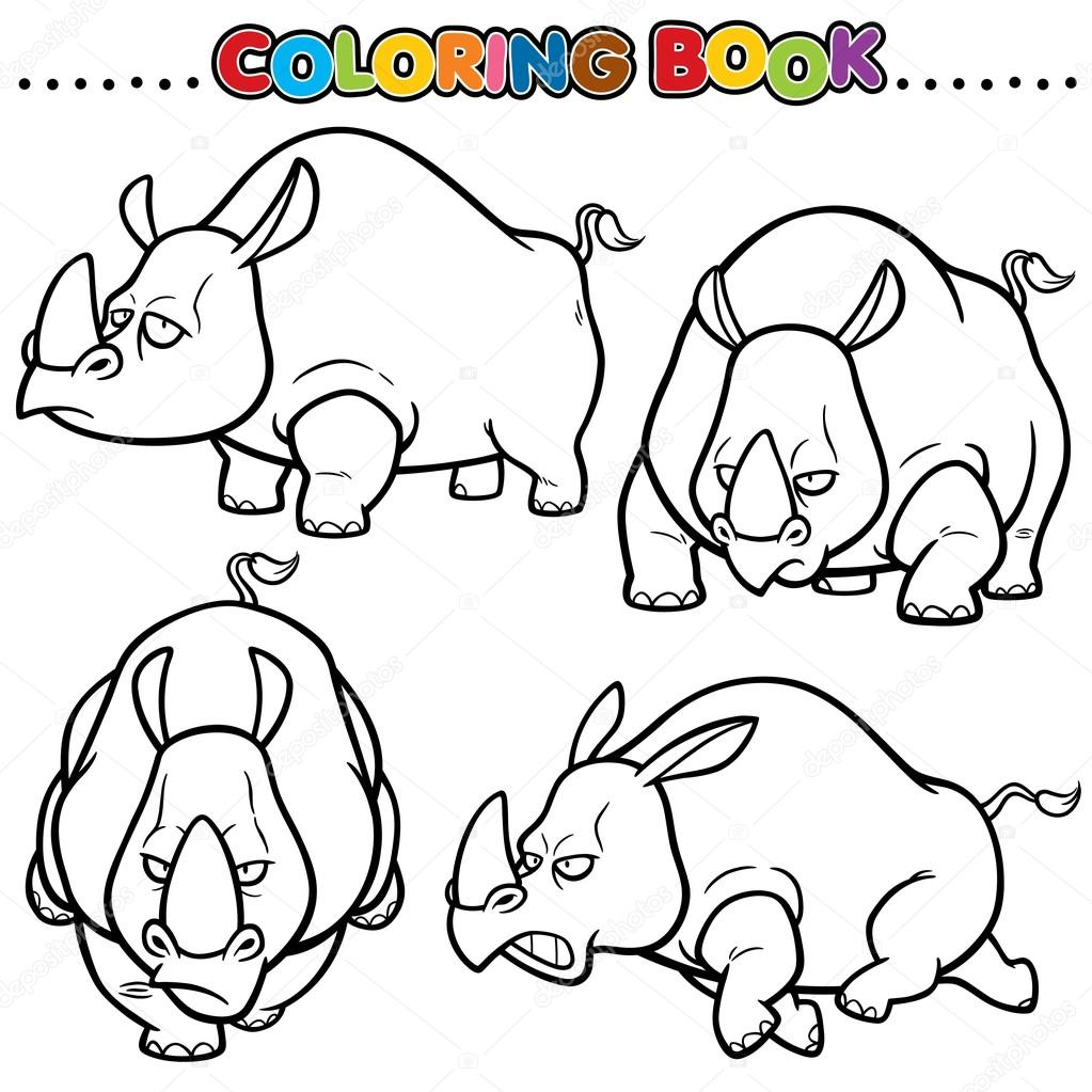 Libro de dibujos animados para colorear — Vector de stock © sararoom ...