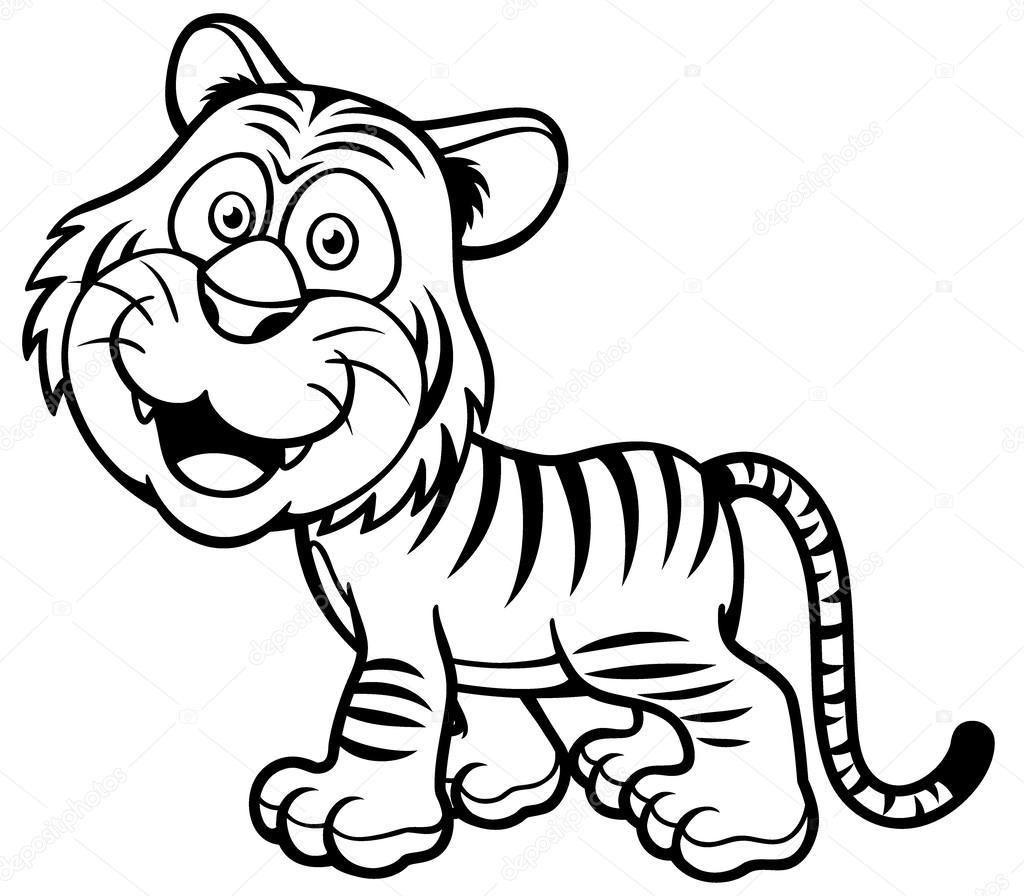 Tigre — Archivo Imágenes Vectoriales © sararoom #52637319