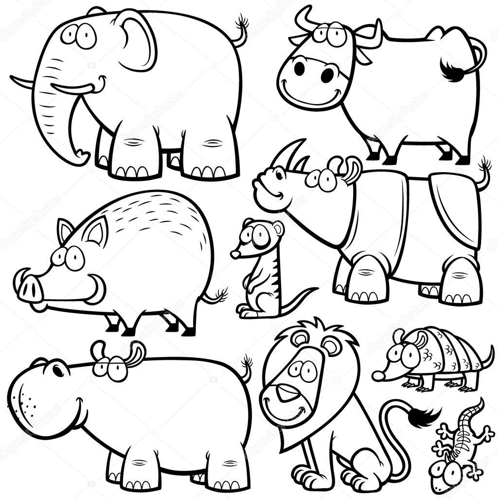 animales salvajes — Vector de stock © sararoom #52637337