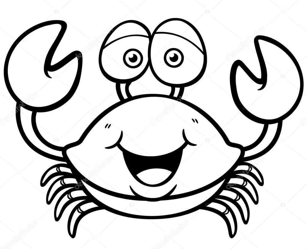 Im genes un cangrejo para colorear cangrejo vector de - Dessiner un crabe ...