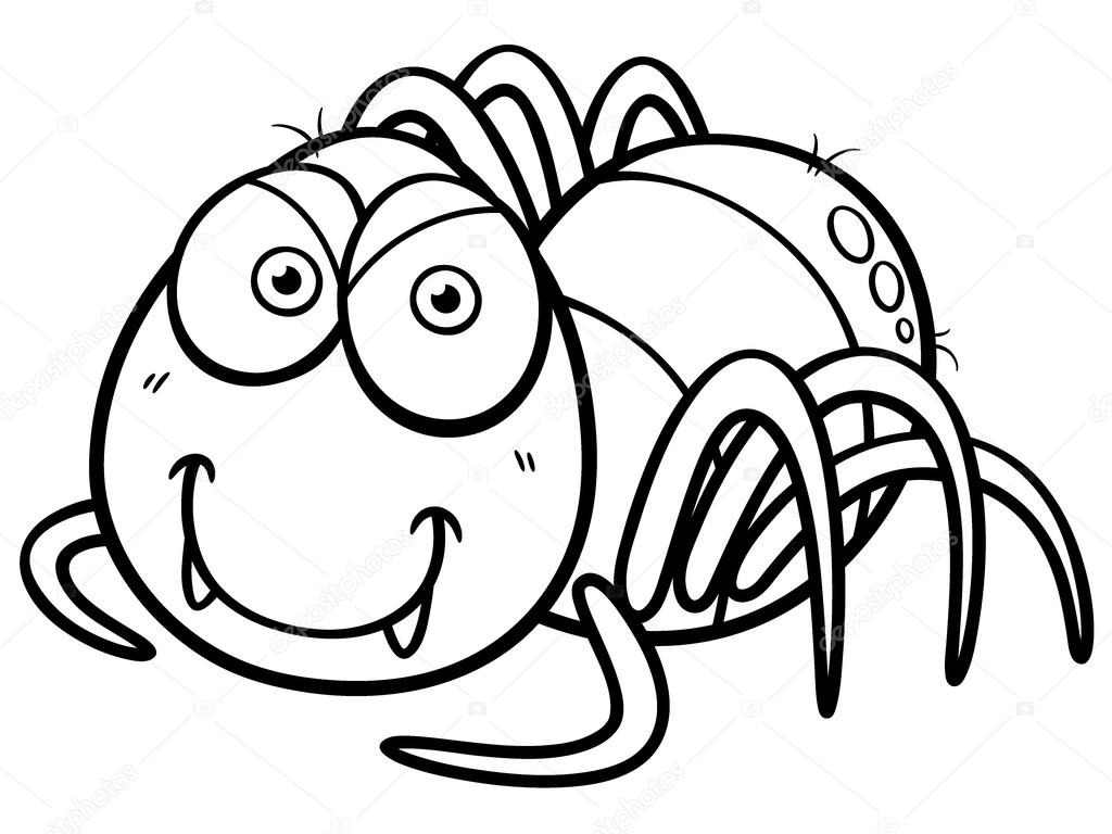 Imágenes Arañas Animados Para Colorear Araña Vector De