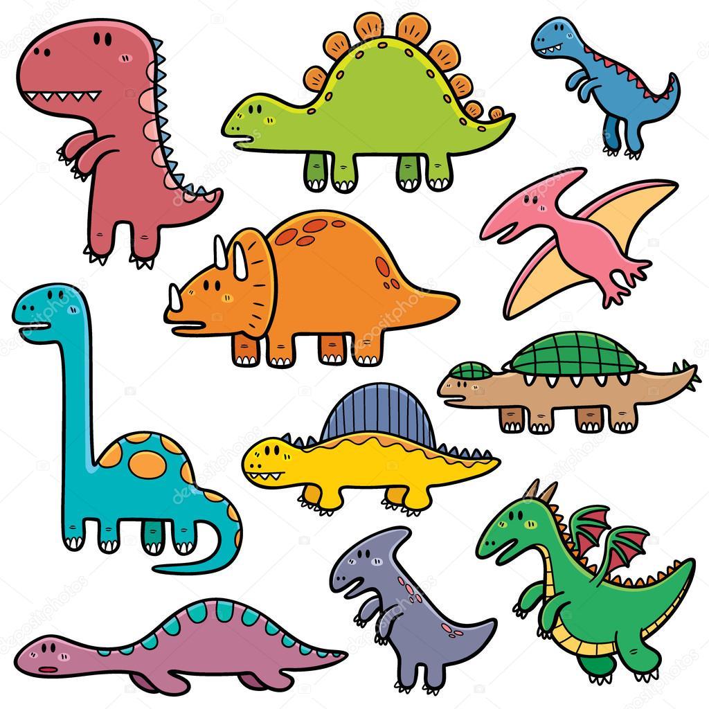 Cartone animato dinosauri — vettoriali stock sararoom