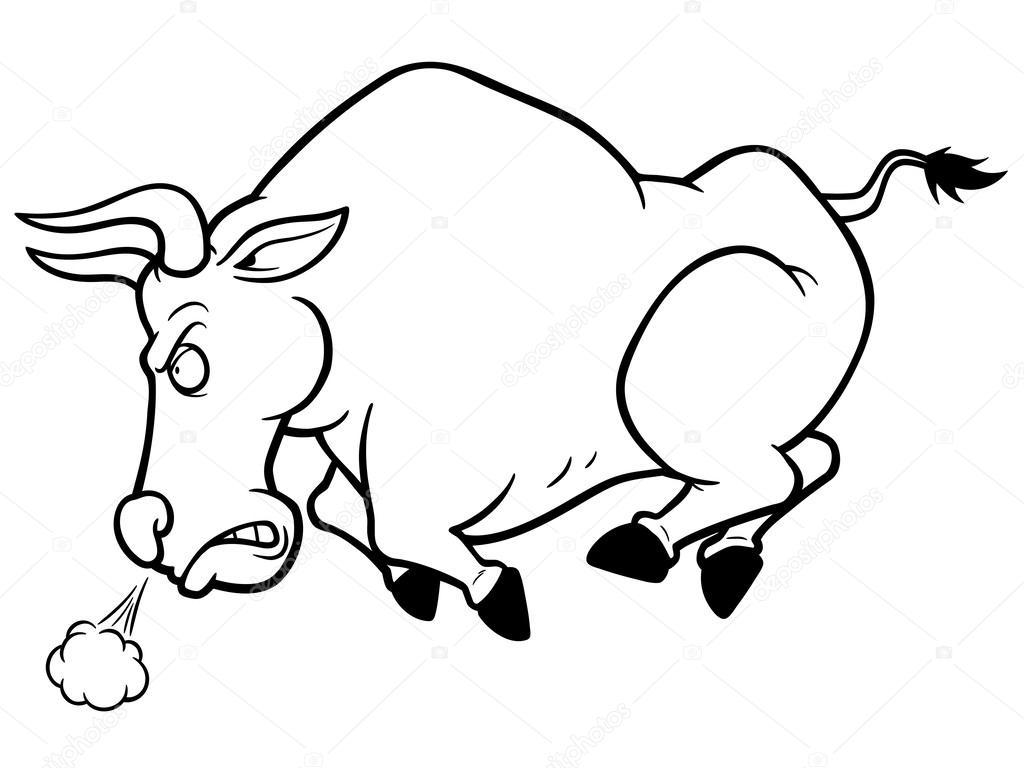 Dibujos Caras De Toros Para Colorear Toro Vector De Stock