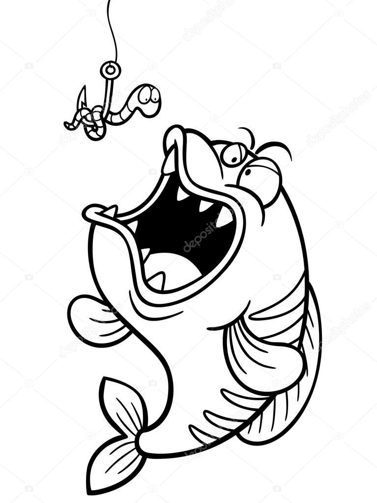 gancho de pesca — Vector de stock © sararoom #63951835