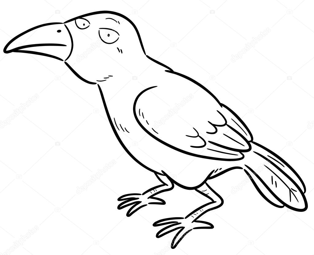 Crow Stock Vector C Sararoom 69596769