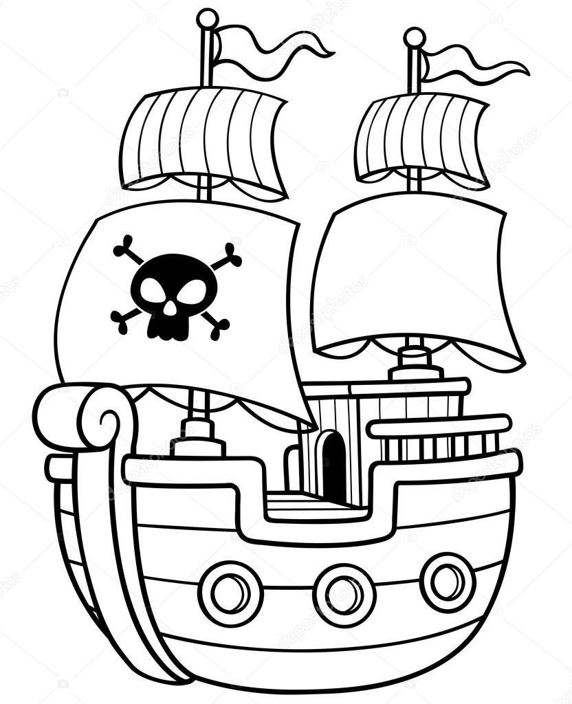 Korsan Gemisi Stok Vektör Sararoom 75485123