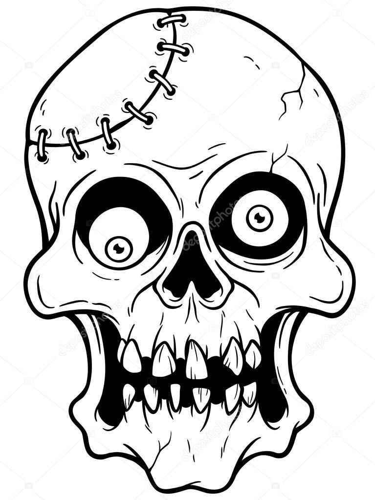 Visage de zombie image vectorielle sararoom 76586357 - Zombie dessin ...