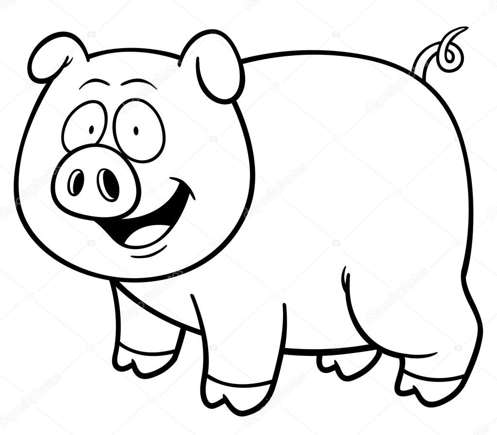 Imágenes Animadas De Cerdos Para Colorear Cerdo De La Historieta