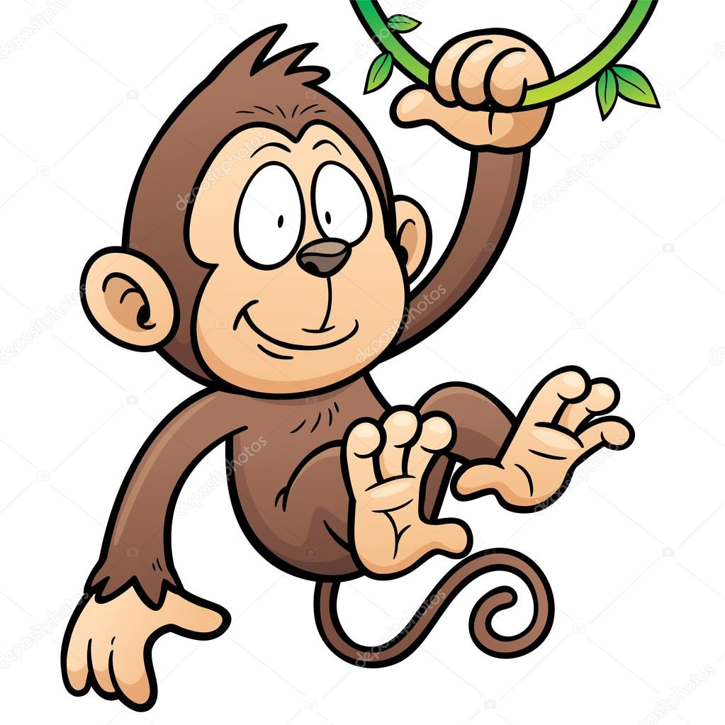 Cartoon cute monkey