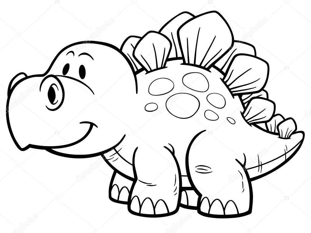 Personagem De Desenho Dinossauro Vetor De Stock C Sararoom 95783738