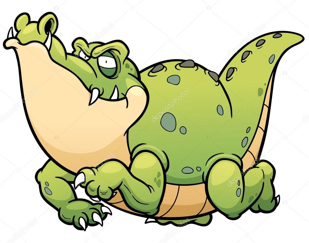 Personnage de dessin anim crocodile image vectorielle - Image crocodile dessin ...