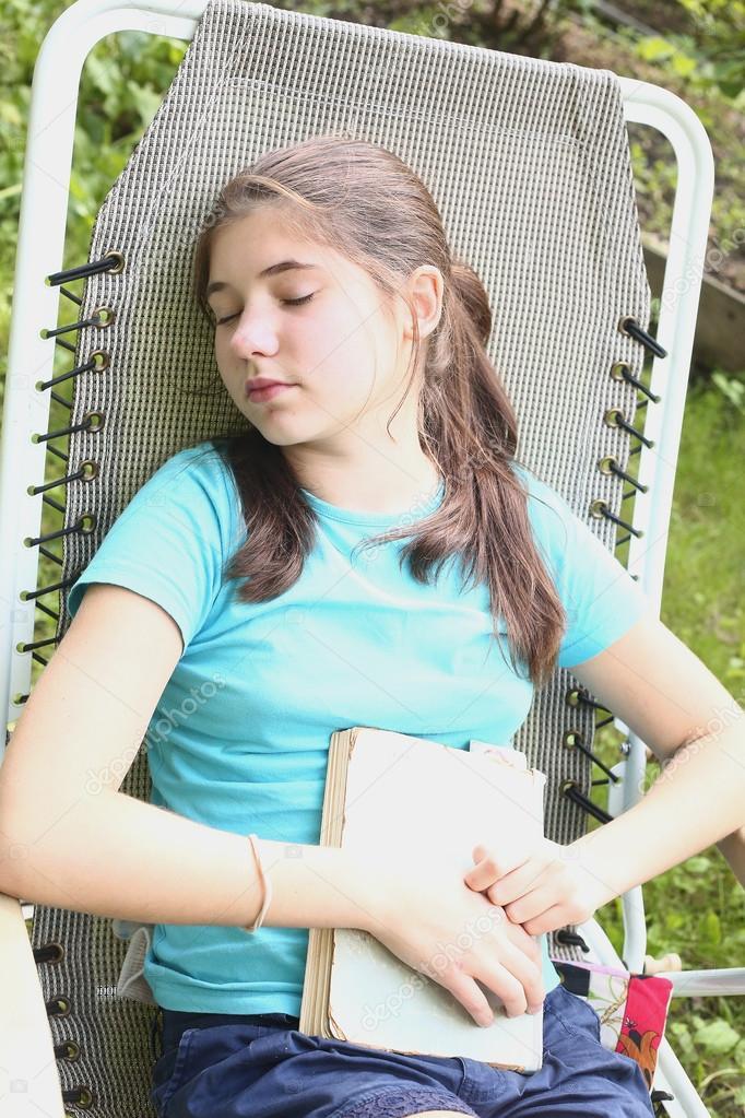 girls model teen Sleeping
