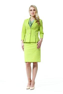 blond european business woman model