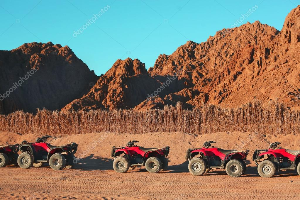 quad bike safari trip into desert in Egypt