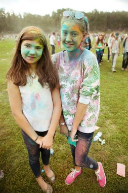 MOSCOW, SEPTEMBER 6, 2014: Color Fest September 2014 in Moscow.