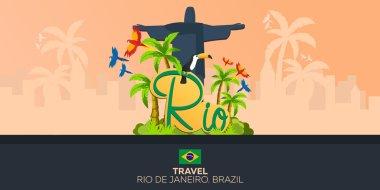 Rio de Jeaneiro. Travel in Brasil. South America. Statue of Christ the Redeemer
