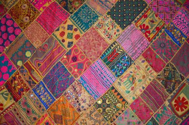 Patchwork bedspread in the eastern style