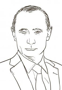 Russian President Vladimir Putin. Graphics, illustration