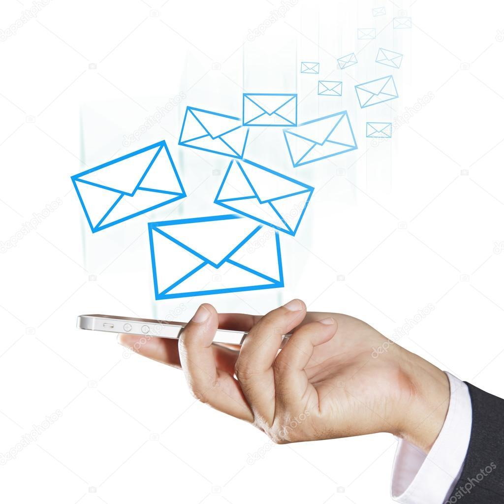 konzept der versand von e mails stockfoto naypong