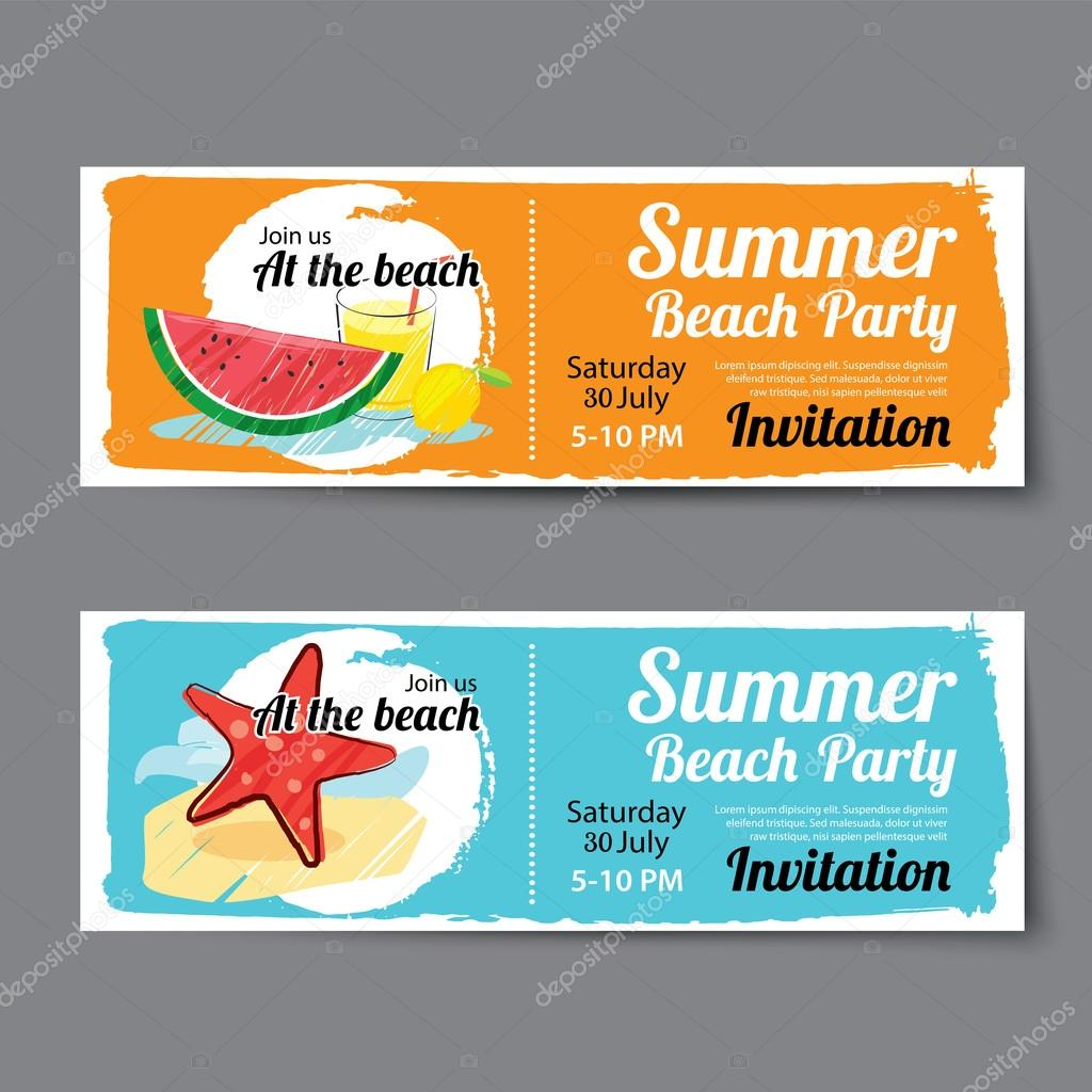 plantilla de boleto de partido de piscina de verano — Archivo ...