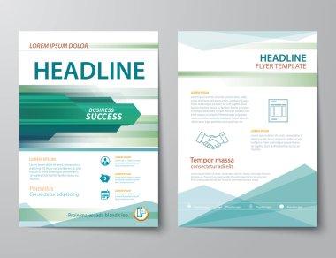 set of business magazine cover , flyer, brochure flat design tem