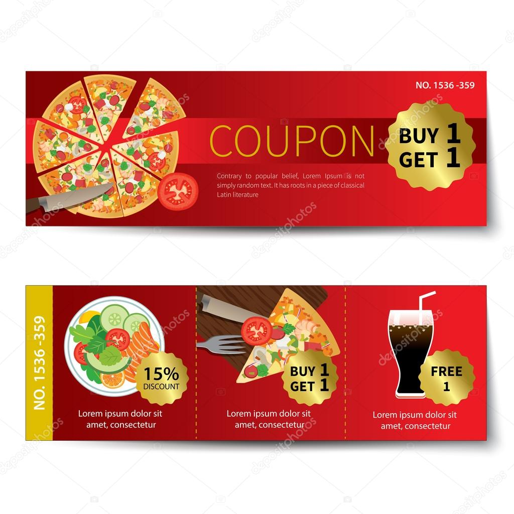Food Coupon Flyer Stock Vectors Royalty Free Food Coupon Flyer