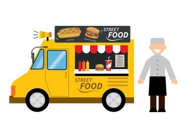 Food truck hamburger