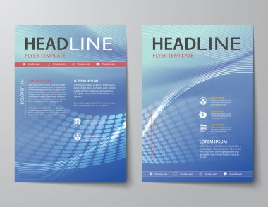 abstract business magazine covers