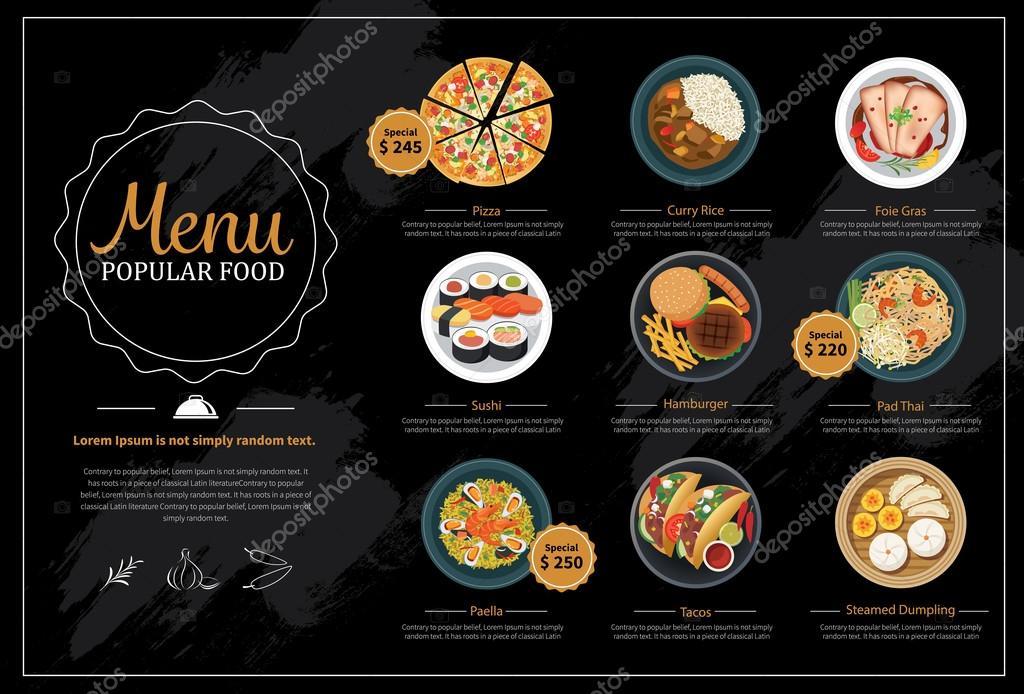 Asian food menu stock vector kaisorn4 82767658 for Asian cuisine menu