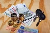 Fotografie Documents car keys and money