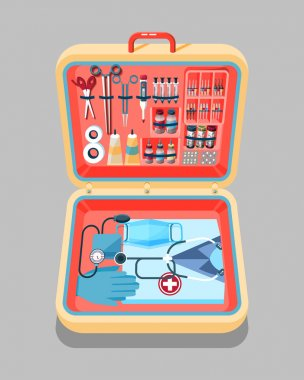 illustration of medical supplies